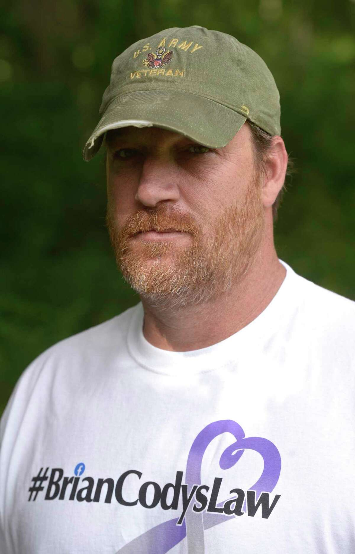 Tony Morrissey marked the one year anniversary of his step son Brian Cody's fatal overdose this past Monday. New Milford, Conn, Friday, August 14, 2020.