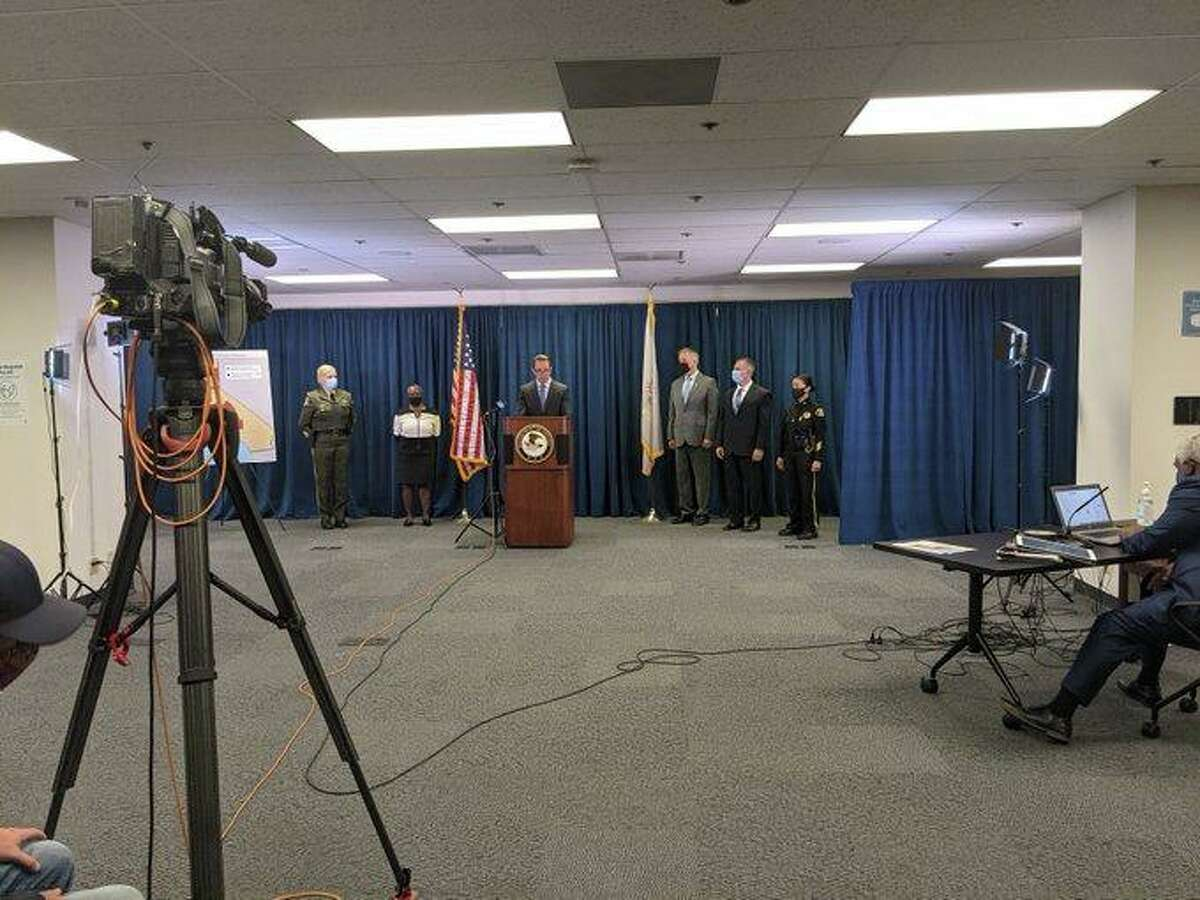 FBI and U.S. Attorney's Office officials announce charges Thursday against 55 people after a five-year investigation centered on the Nuestra Familia prison gang.