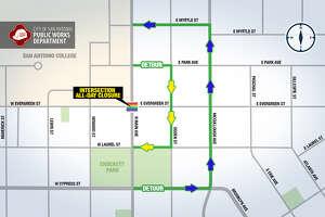 Rainbow Crosswalk reinstallation map.