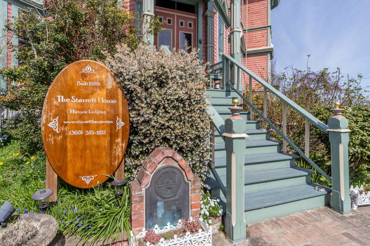 The Queen Anne Victorian details have been proudly preserved on this historic abode.