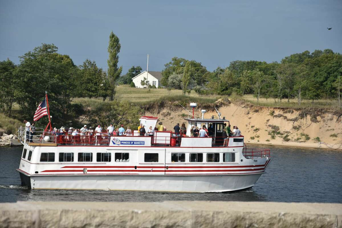 The Princess of Manistee could be seen with plenty of folks aboard on a tour through the Manistee River channel on Fridayafternoon.