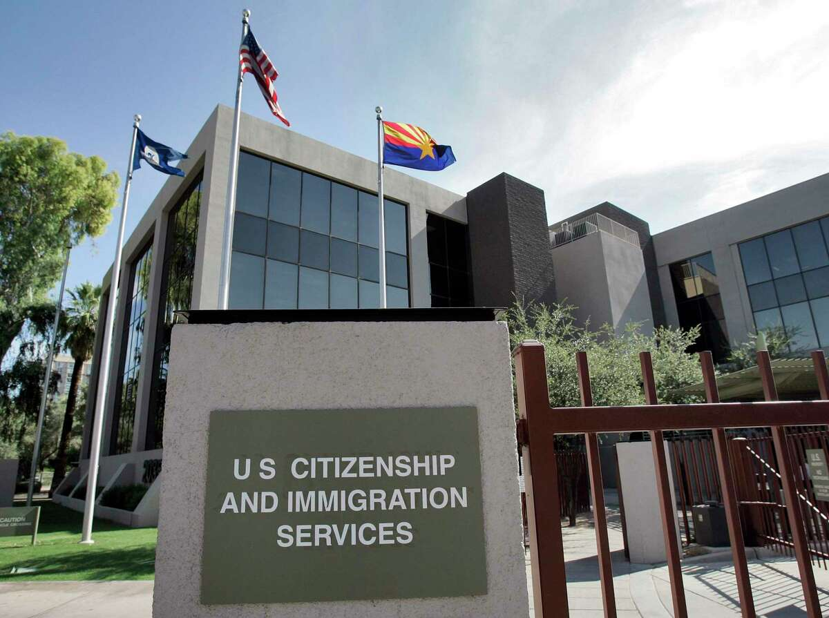 The U.S. Citizenship and Immigration Services building in Phoenix, Arizona.