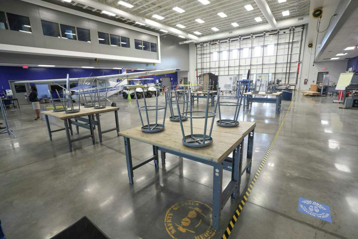 Sterling High School aviation class room Wednesday, July 14, 2021, in Houston.