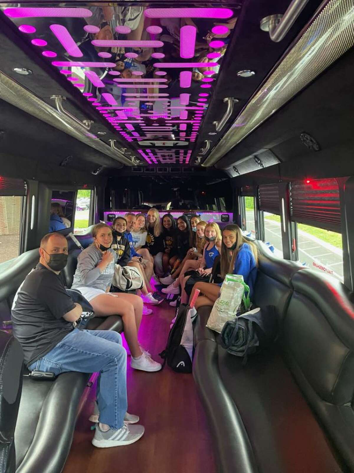 The Brookfield girls tennis took a party bus to its Class M state tournament match at Stonington last May. Brookfield dealt with a bus shortage last spring and was ready when that shortage for its athletic events happened again this fall.