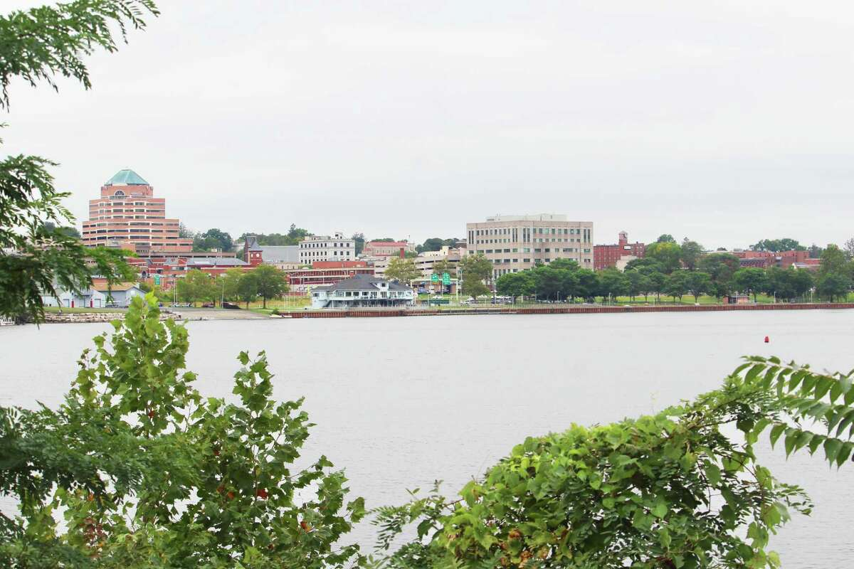Middletown's harbor area as seen from across the Connecticut River in Portland. A portion of the city's American Rescue Act funding will be used toward improvements at the riverfront.