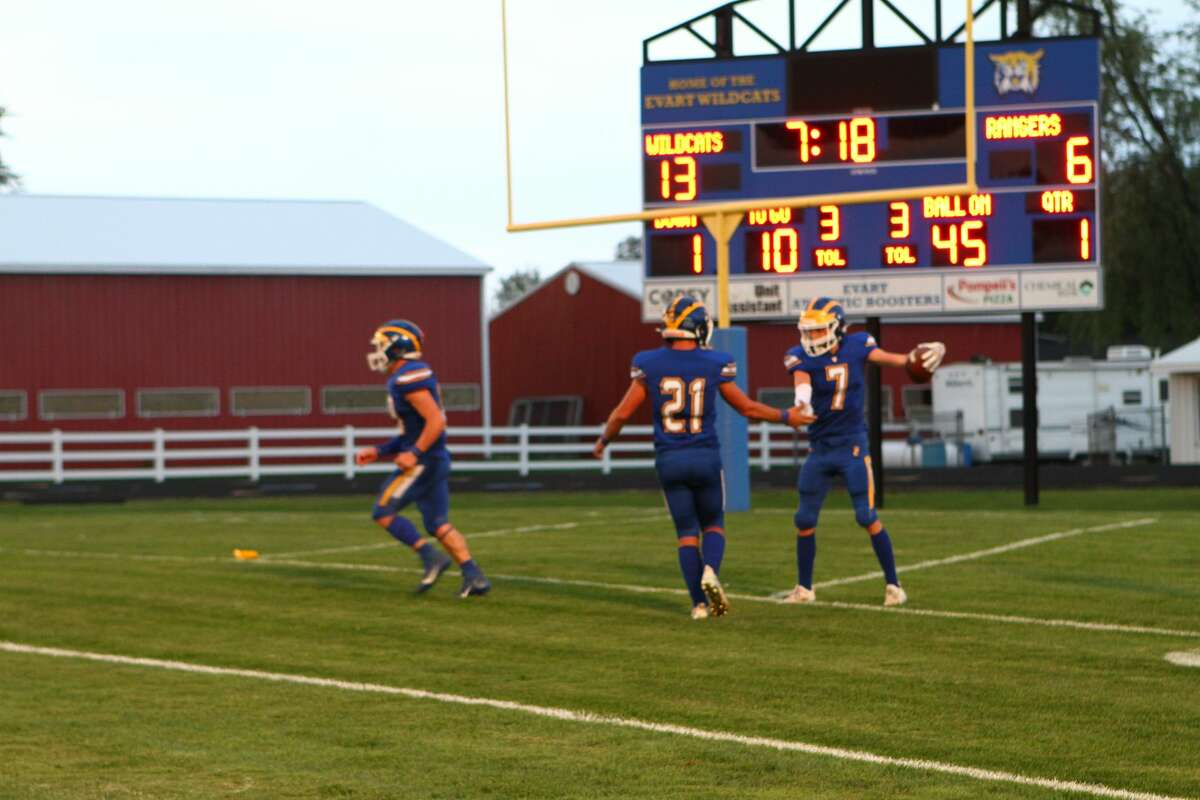 Offense was at the forefront on Friday night, as Evart's football team defeated Manton.