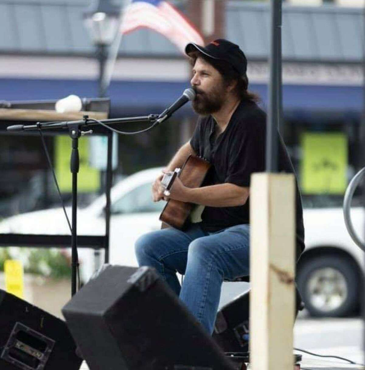 Vincent Rodriguez performing at The Silo