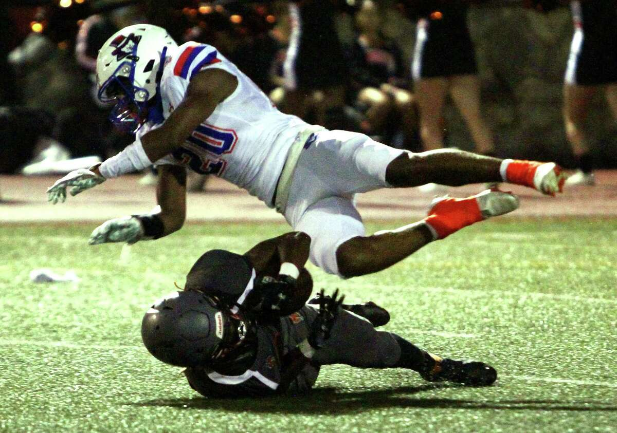 High school football action between Danbury and Stamford in Stamford, Conn., on Friday September 17, 2021.
