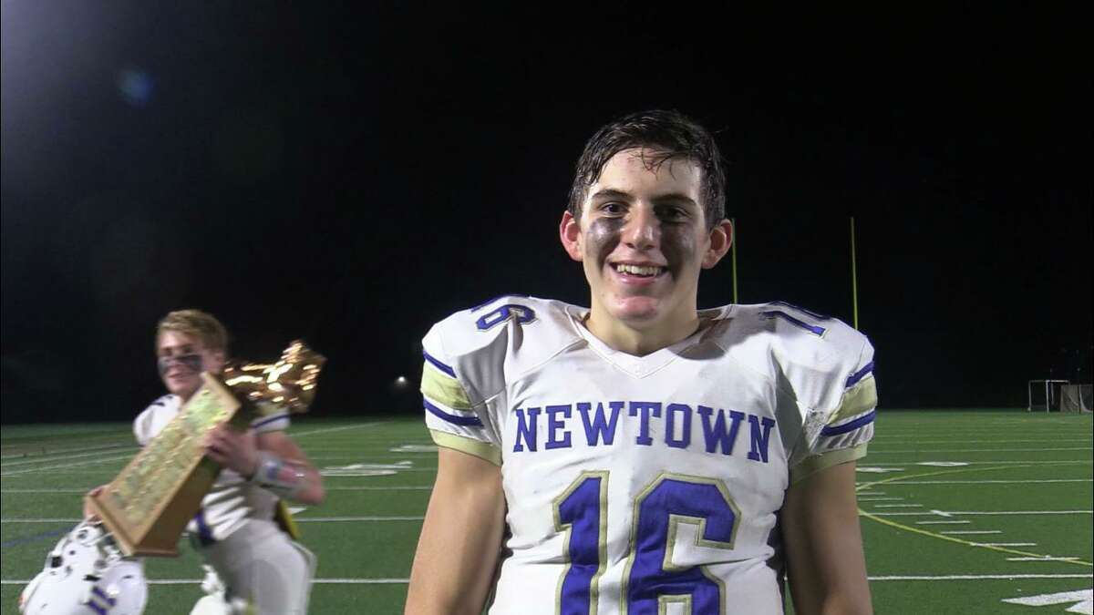 Junior quarterback Dylan Magazu accounted for four Newtown touchdowns against New Milford Friday night.