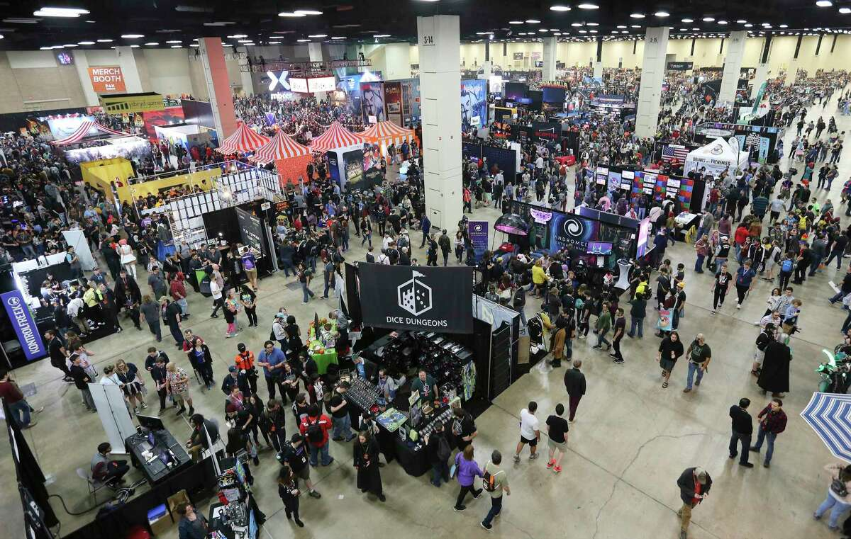 Gamers of all ages fill the Convention Center for the Pax South gaming exhibition in January 2020.