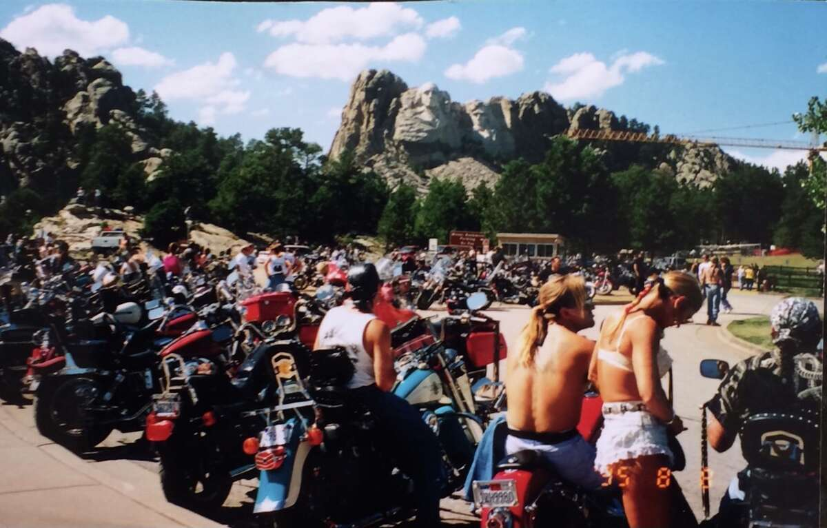 4. When driving cross country to college in Arizona, we visited the Dakotas during the week of the Sturgis Motorcycle Rally. I saw Mount Rushmore while surrounded by men in assless chaps.