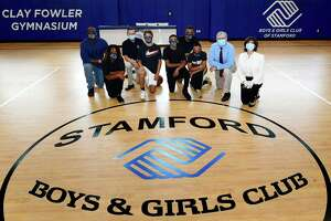 Local teens and dignitaries gather at the new Teen Center at the Stamford Boys/Girls Club on Friday June 26, 2020, in Stamford, Conn.