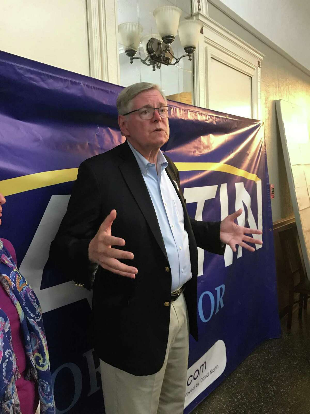 Mayor David Martin speaks to supporters at his campaign headquarters Tuesday, Sept. 14, 2021, after he conceded in the Democratic mayoral primary.
