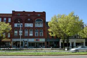 Downtown Danbury. New Socioeconomic demographic information being shared about Danbury's neighborhoods will be used by a task force to develop the city masterplan for the next 10 years. Friday, April 23, 2021, in Danbury, Conn.