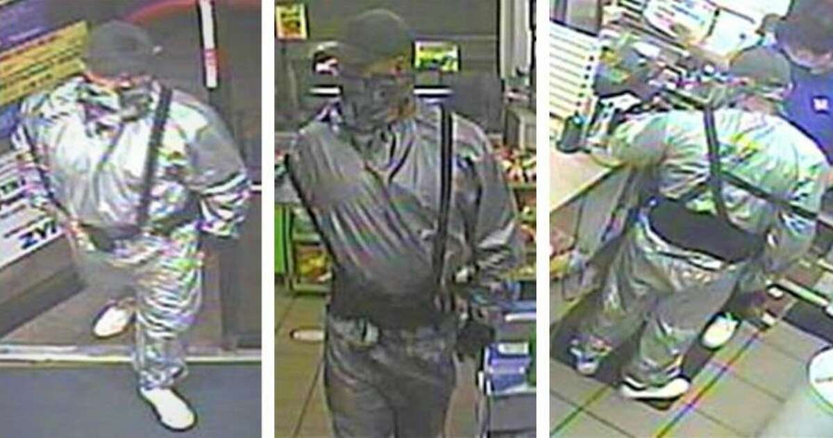 """Laredo police said they need to identify this man they are calling the """"Sweatsuit Bandit"""" in connection with an aggravated robbery."""