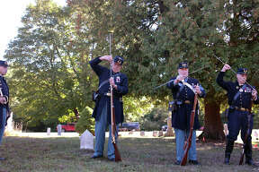 A ceremony for the last civil war union veteran who was buried in Manistee County was held Saturday at Conway Cemetary in Arcadia Township. James W. Gear who died in 1934, lived most of his life in Arcadia township after being a Private in the 35th Wisconsin Infrantry for the Union in the Civil War. The Ceremony was put on by Robert Finch Camp No. 14, out of Traverse City. Their mission is to honor union soliders buried in Northern Michigan.