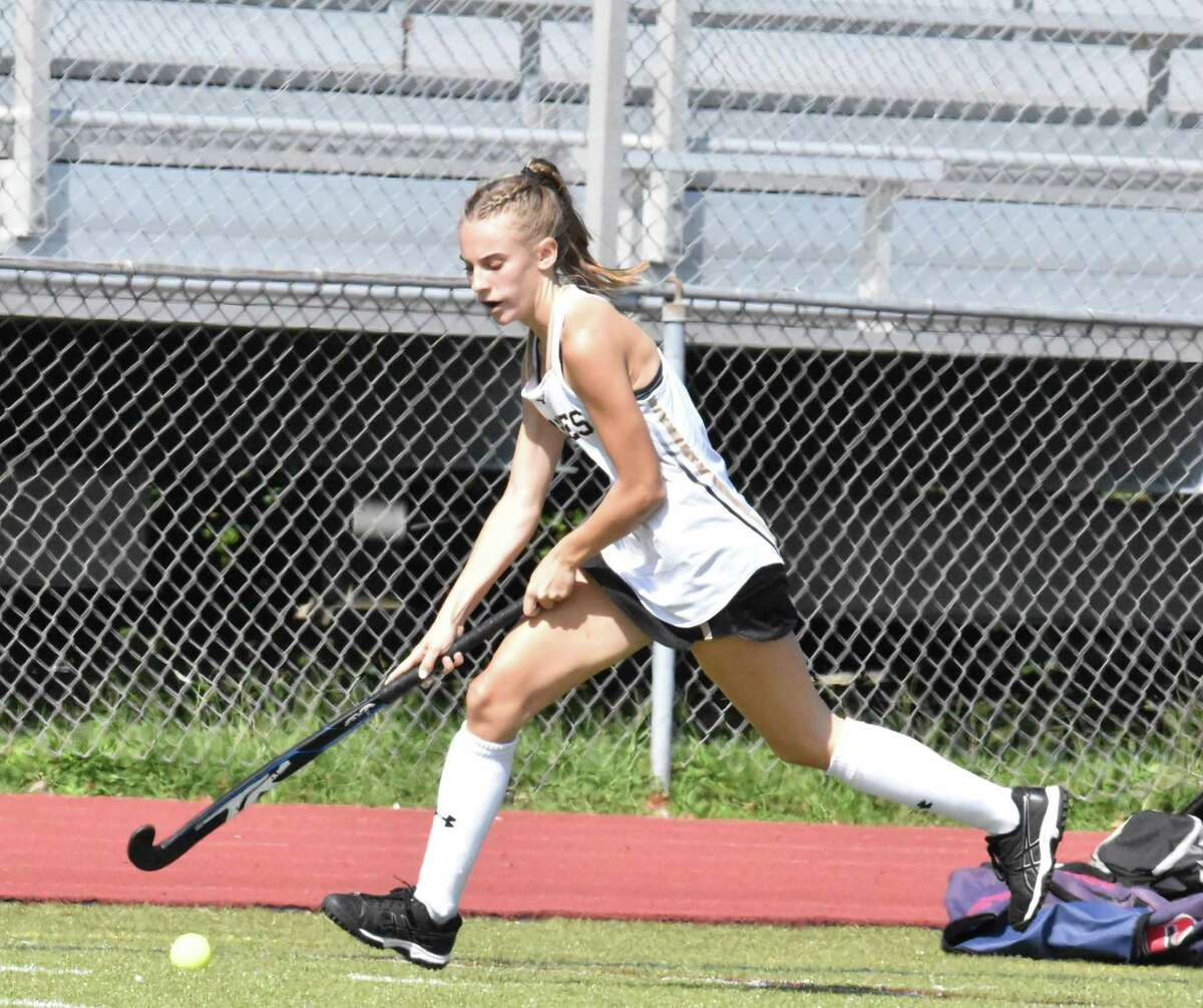 Kayla Barbagallo had a goal and two assists in Trumbull's third win of the season.