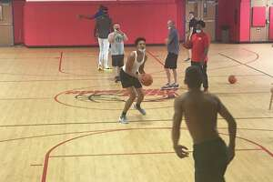 Putnam Science point guard Desmond Claude of New Haven is starting to get the attention of several major college basketball coaches.
