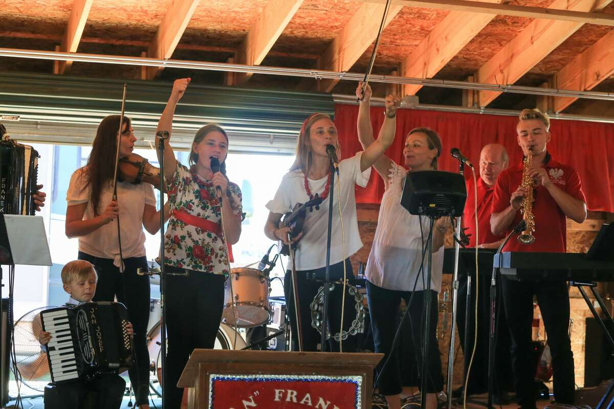 Attendees enjoy the return of the Polka Fest in Kinde Saturday.