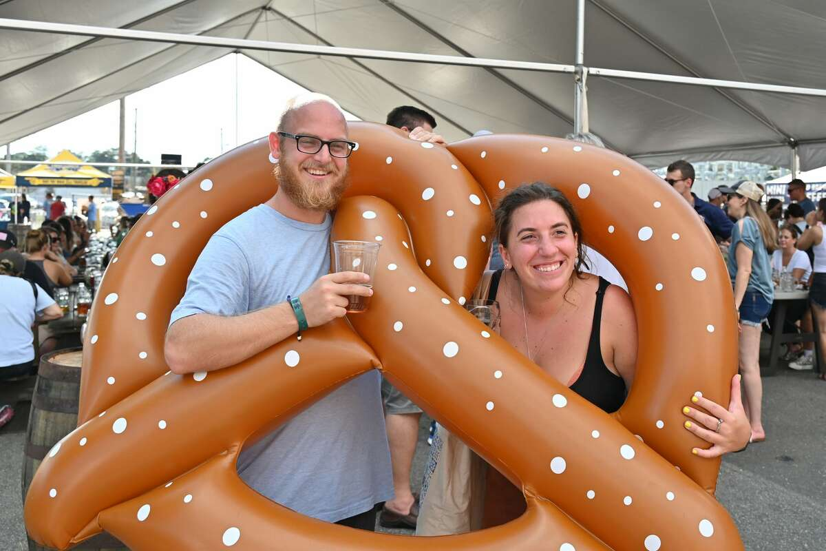 Two Roads Brewing Company held their eighth annual Ok2berfest on Saturday, Sept. 18 and Sunday, Sept. 19, 2021 in Stratford, Conn. The homage to Germany's Oktoberfest featured authentic German music, German-style beers, food and games.
