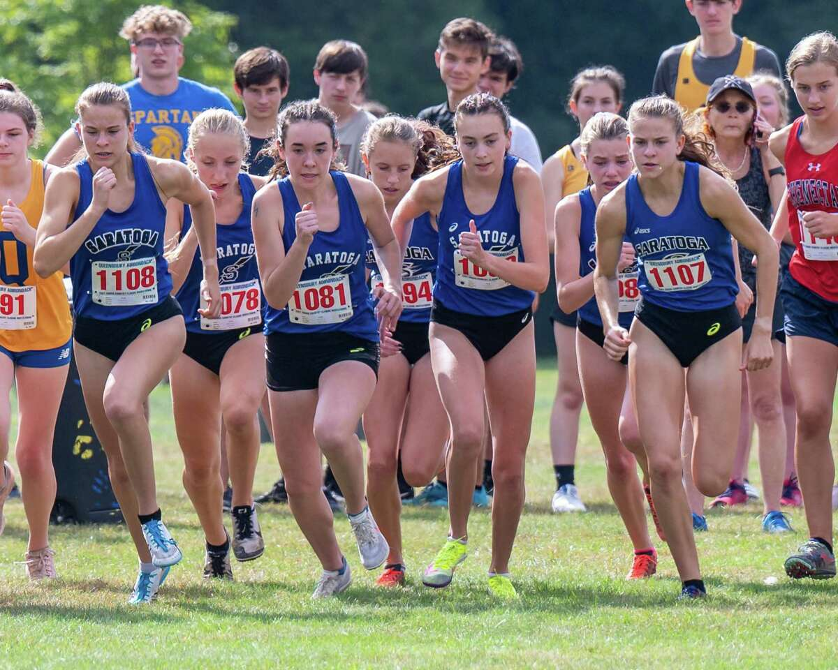 The Saratoga girls' team won the Division I title with 16 points Saturday at the Queensbury-Adirondack Invitational at Queensbury High School on Saturday, Sept. 18, 2021.