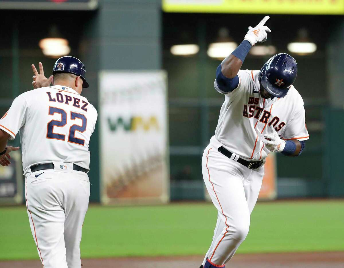 With a powerful lineup featuring the likes of Yordan Alvarez, right, the Astros should be a handful for any pitching staff they encounter in the playoffs.