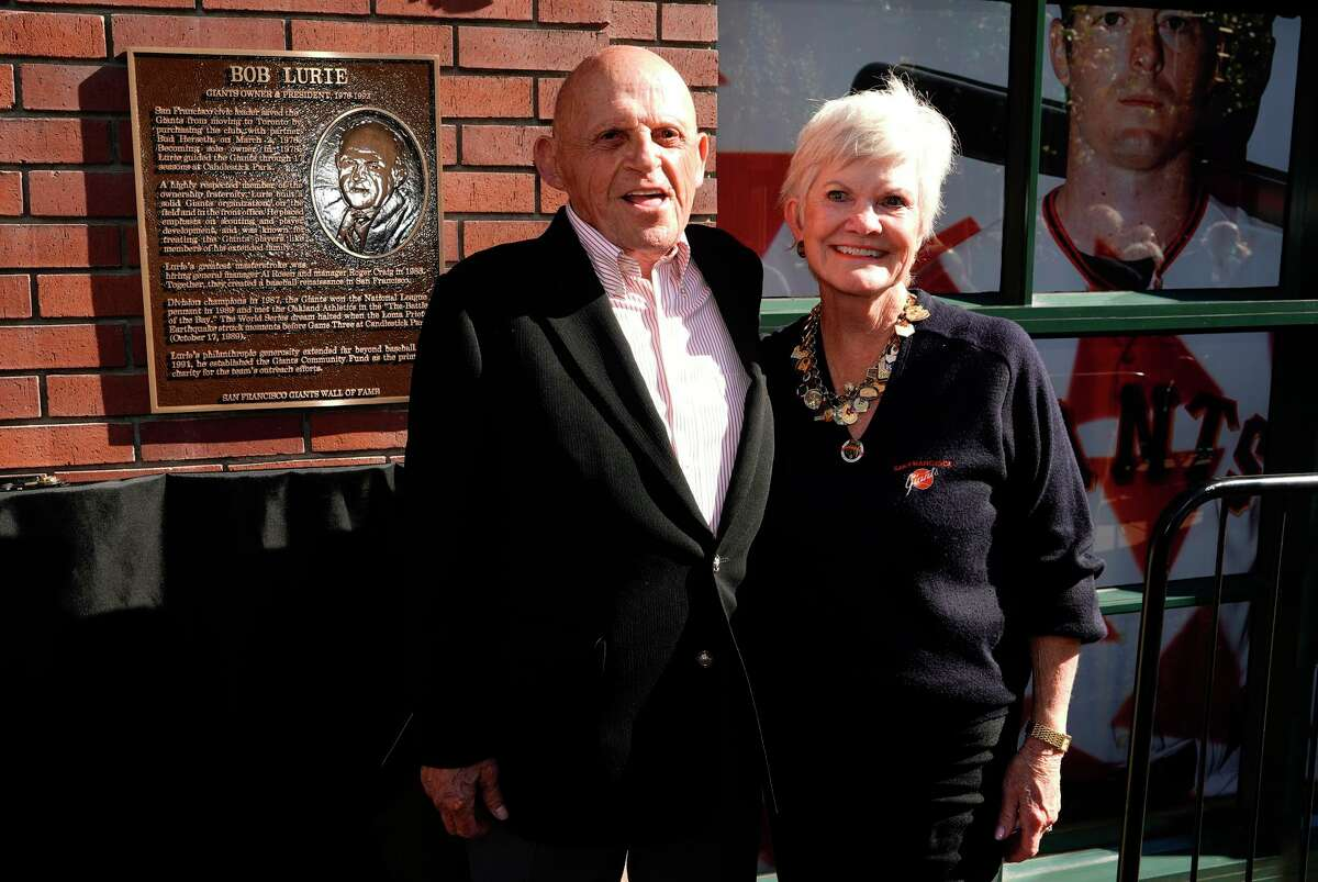 Bob Lurie and wife Connie. Under Lurie, the Giants won division titles in 1987 and 1989 and reached the 1989 World Series.
