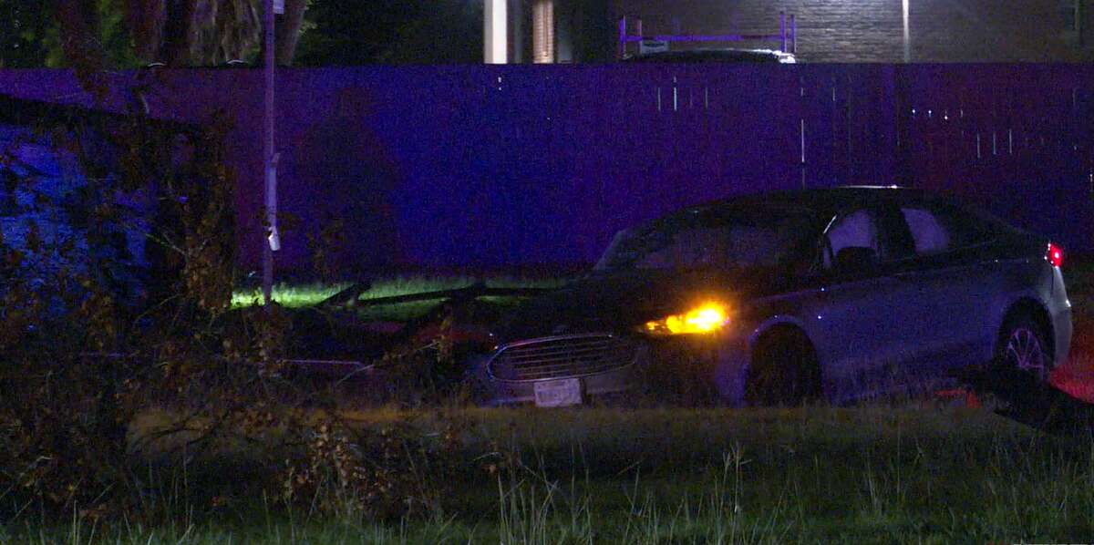 Two vehicles lie wrecked at the scene of a fatal crash Sept. 19, 2021, in Westbury.
