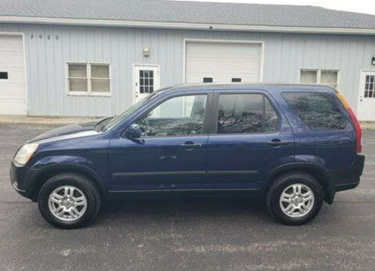 State police released this photo of a similar vehicle to one that fled after striking two individuals early Sunday morning. The car police are looking for is a 2002-2004 blue Honda CRV with damage to the driver's side, police said.