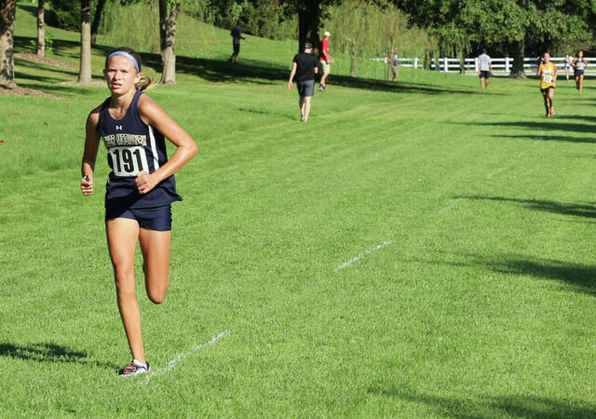 Father McGivney's Elena Rybak competes in the Highland Invitational on Saturday in Alhambra.