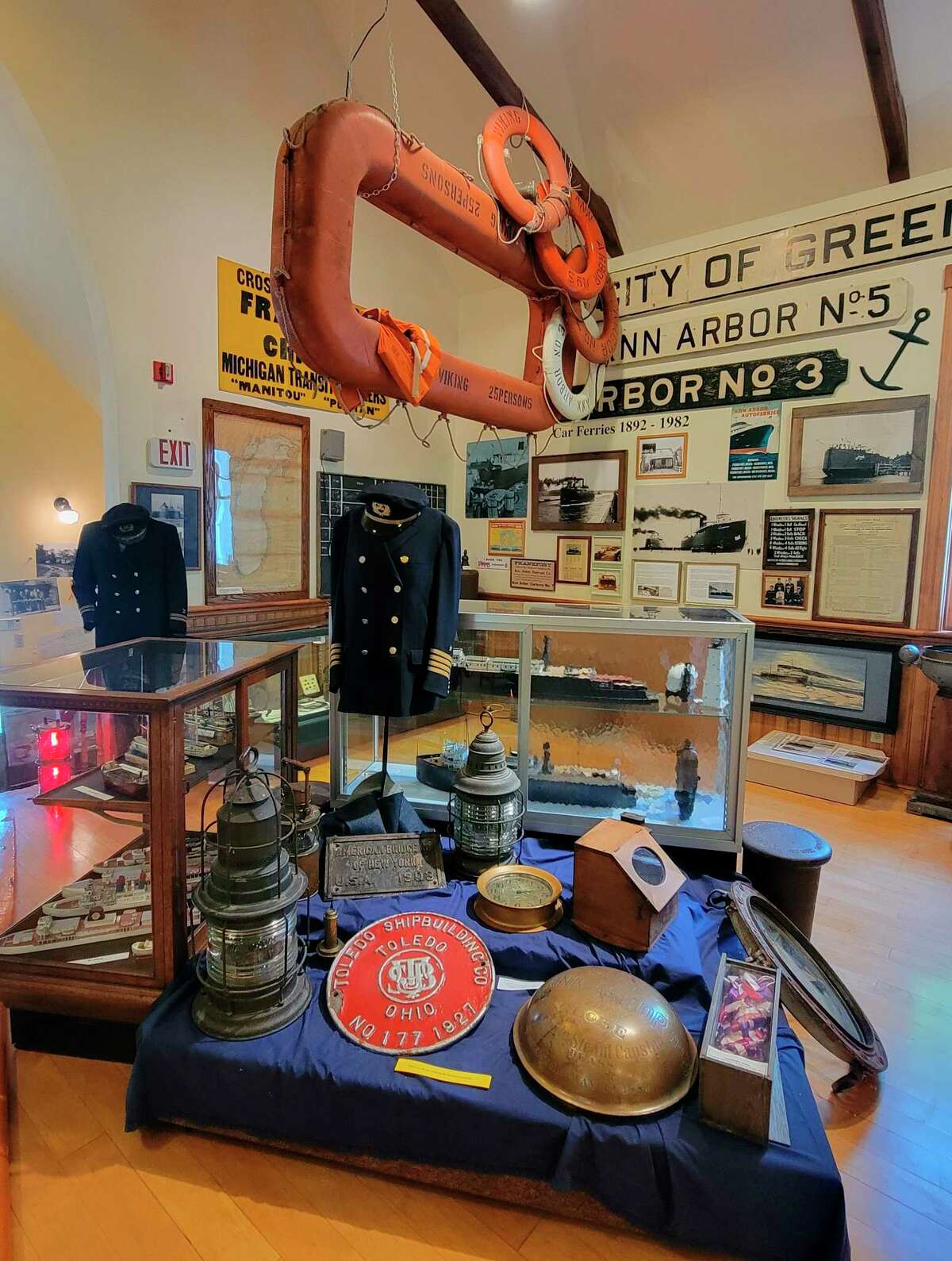 The Benzie Area Historical Museum has upgraded its Ann Arbor Railroad and Car Ferry exhibit to feature more on the railways which had a huge impact on the area. (Colin Merry/Record Patriot)