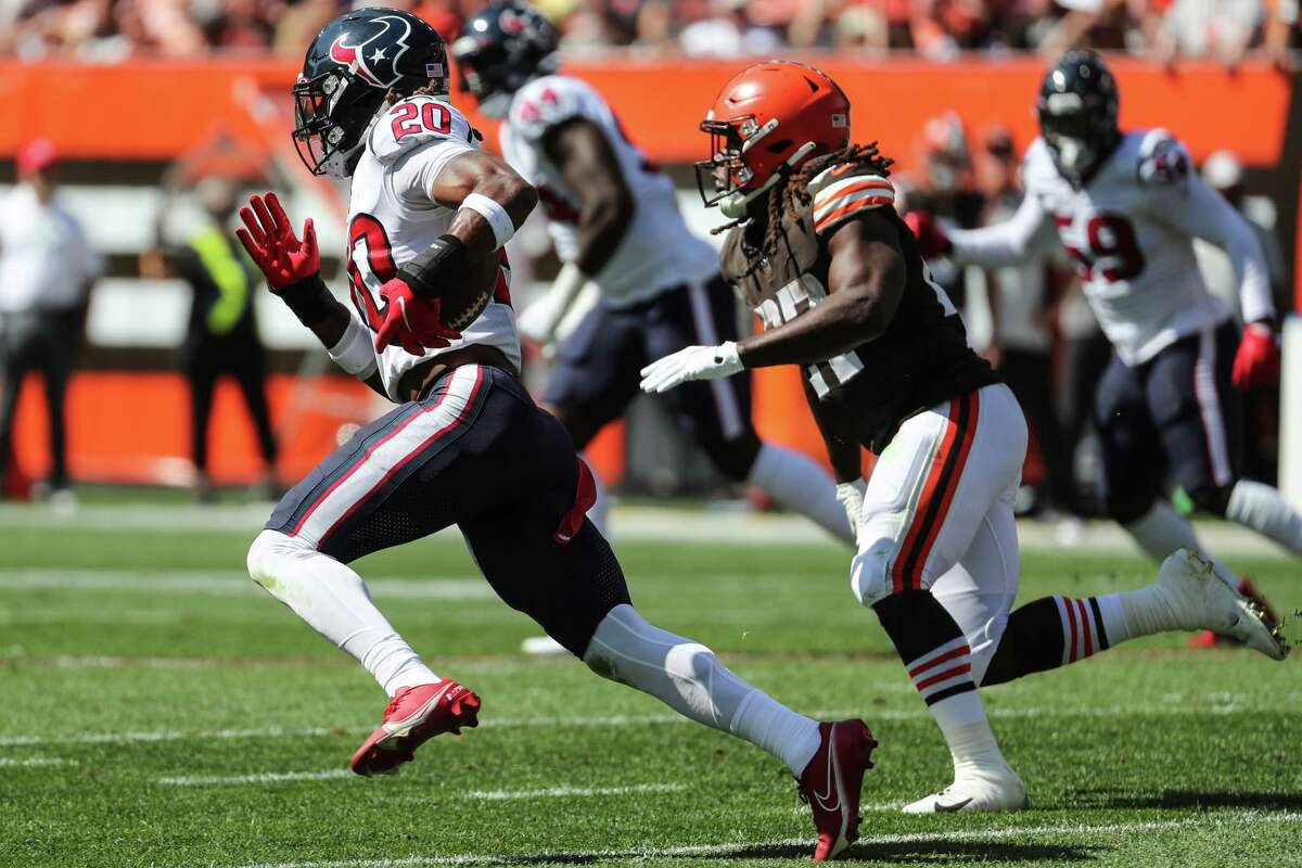 Texans safety Justin Reid last played against the Browns.