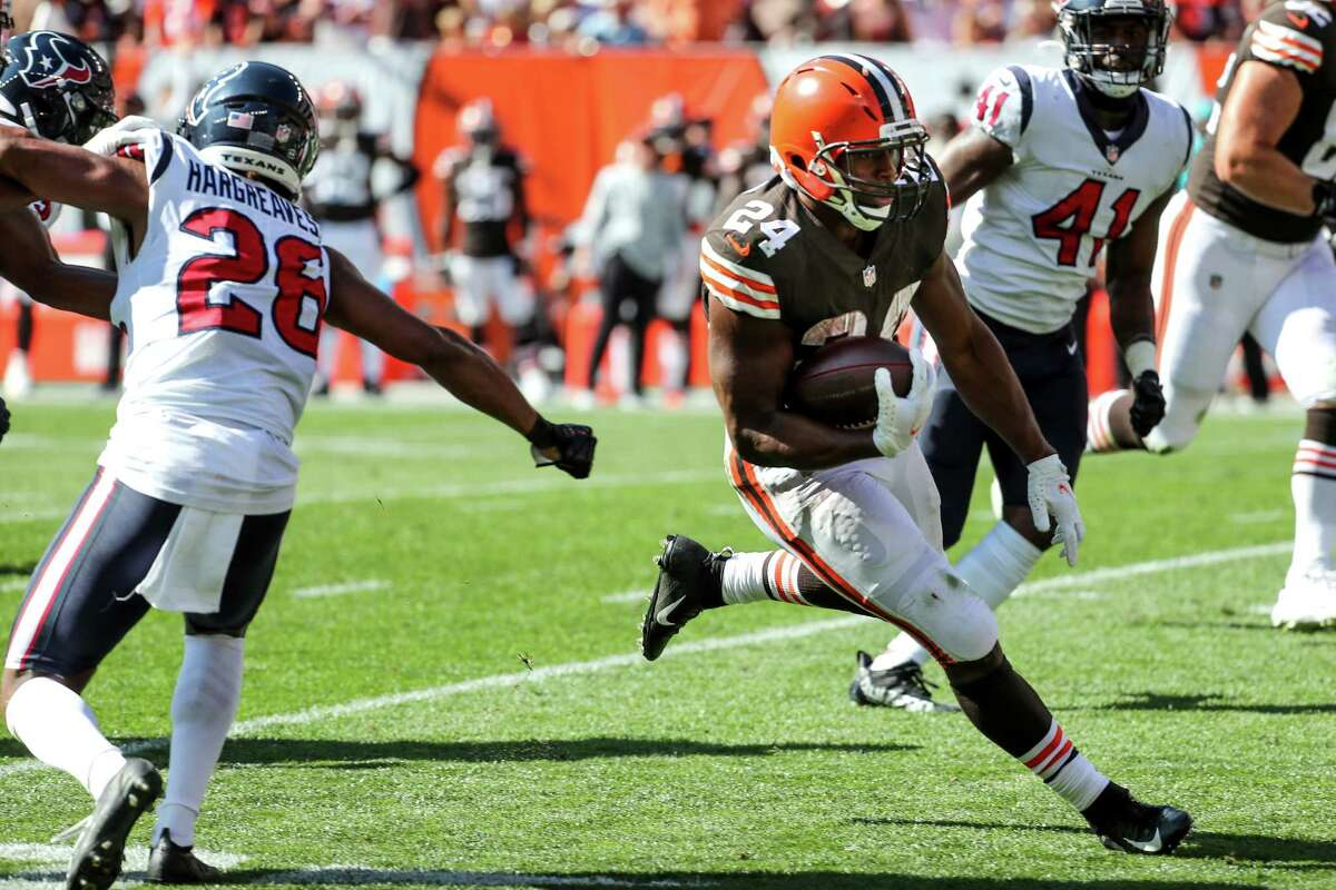 Nick Chubb, taken with a draft pick Houston traded to Cleveland to get rid of Brock Osweiler's salary, gashed them again Sunday in another Browns win over the Texans.