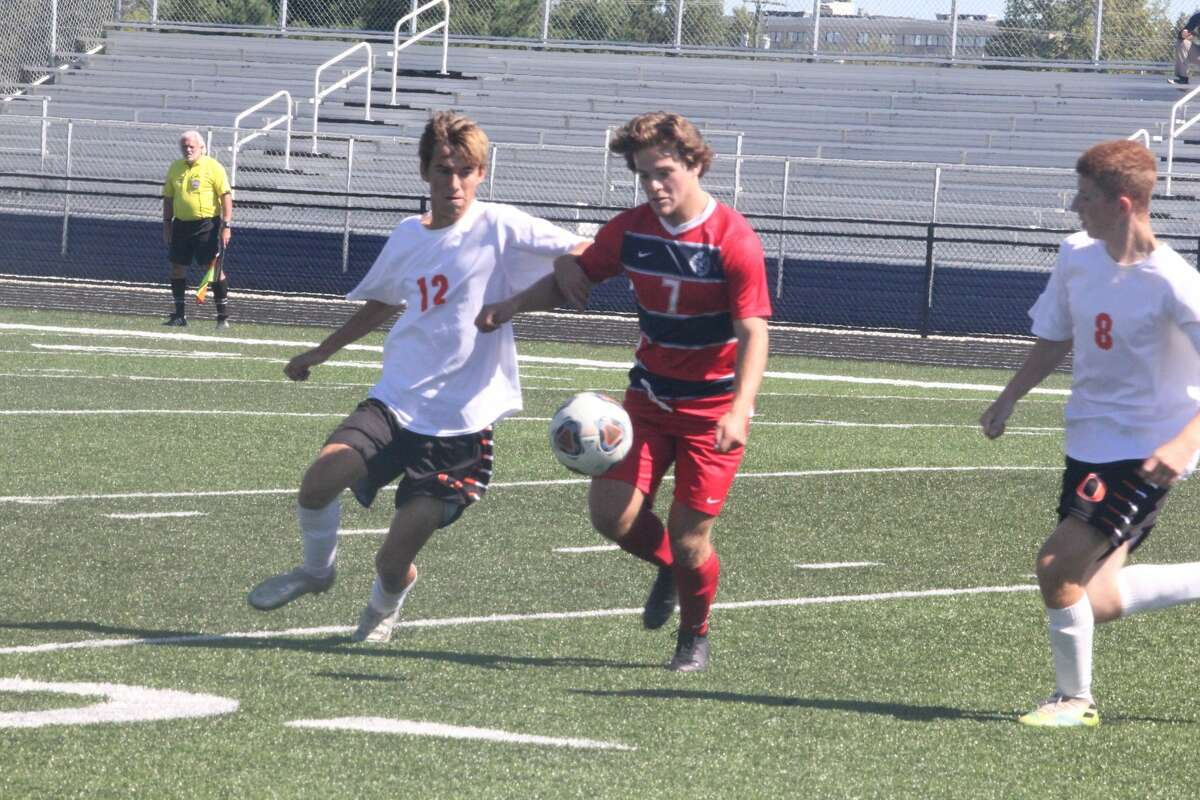 It was a battle of undefeated soccer teams at Cardinal Stadium on Saturday with Big Rapids prevailing over Ludington 1-0