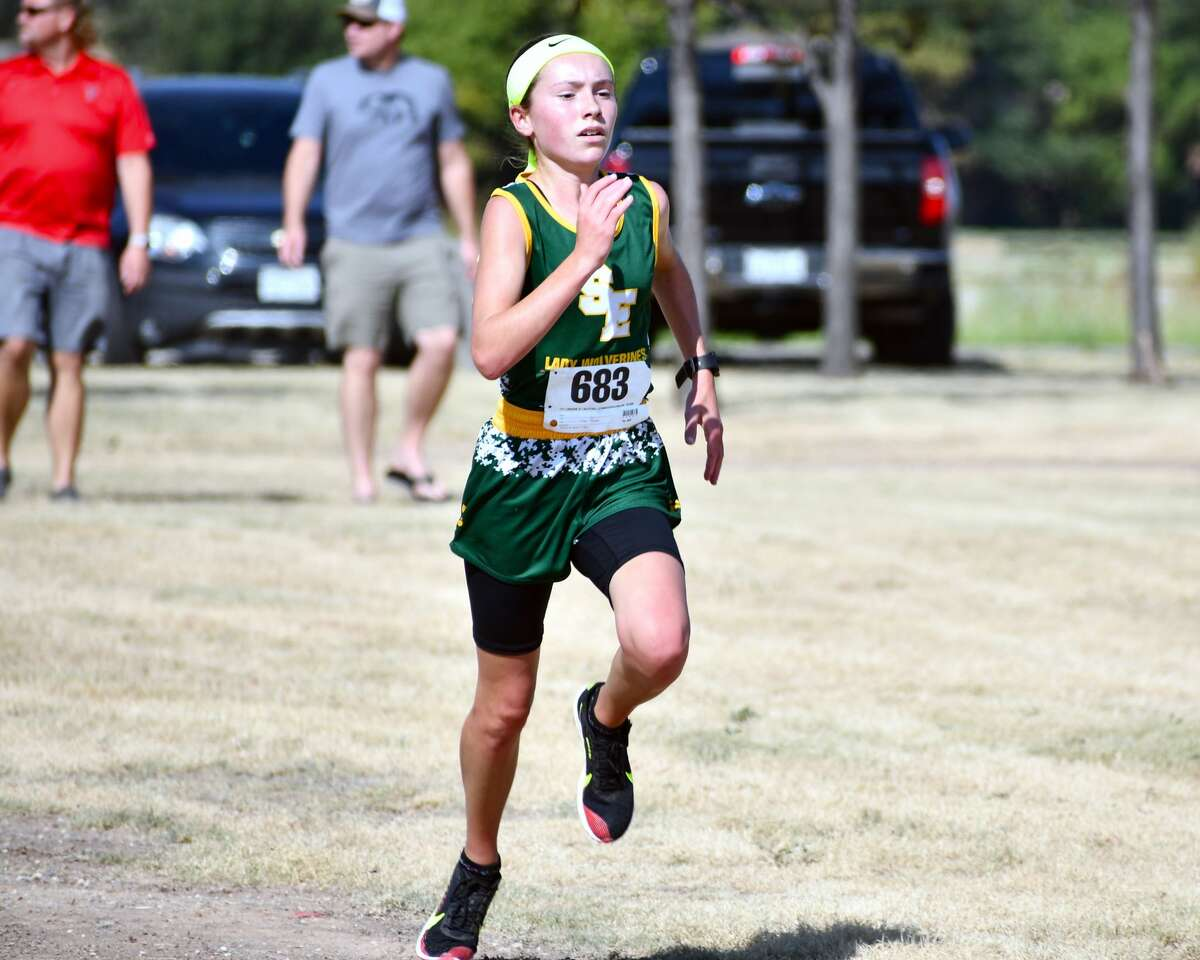 Springlake-Earth's Taytum Goodman easily won the Class 1A-2A girls two-mile race, finishing in a time of 10:52.14.