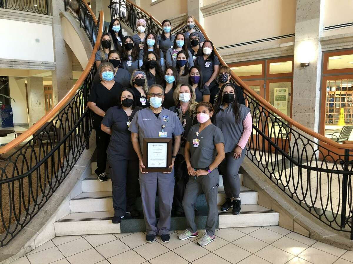 The Laredo Medical Center NICU team proudly displays the Certificate of Designation recognizing the hospital as a Level III Neonatal Facility (Neonatal Intensive Care Unit) through 2024.