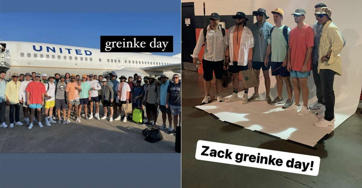 Astros players honored Zack Greinke to kick off their West Coast road trip.