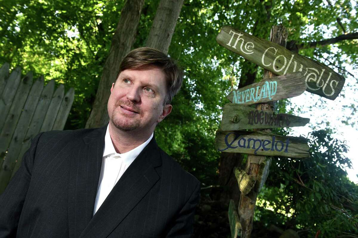 Southern Connecticut State University professor Kevin Colwell is photographed at his home in Cheshire on Sept. 10, 2021.