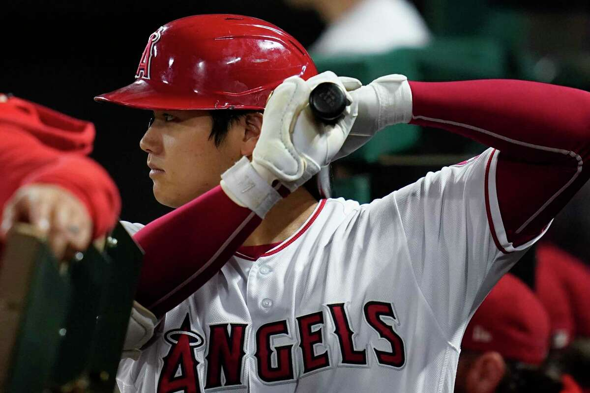 Shohei Ohtani ranks third in the majors with 44 home runs and needs three to tie the single-season Angels record of 47 by Troy Glaus in 2000.