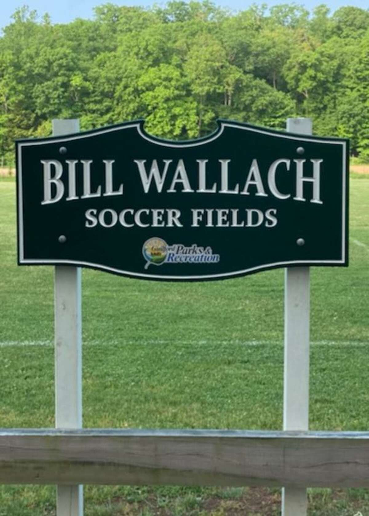 The official dedication of the Bill Wallach Soccer Fields at Cox Elementary School in Guilford will be held Sept. 25, 2021.
