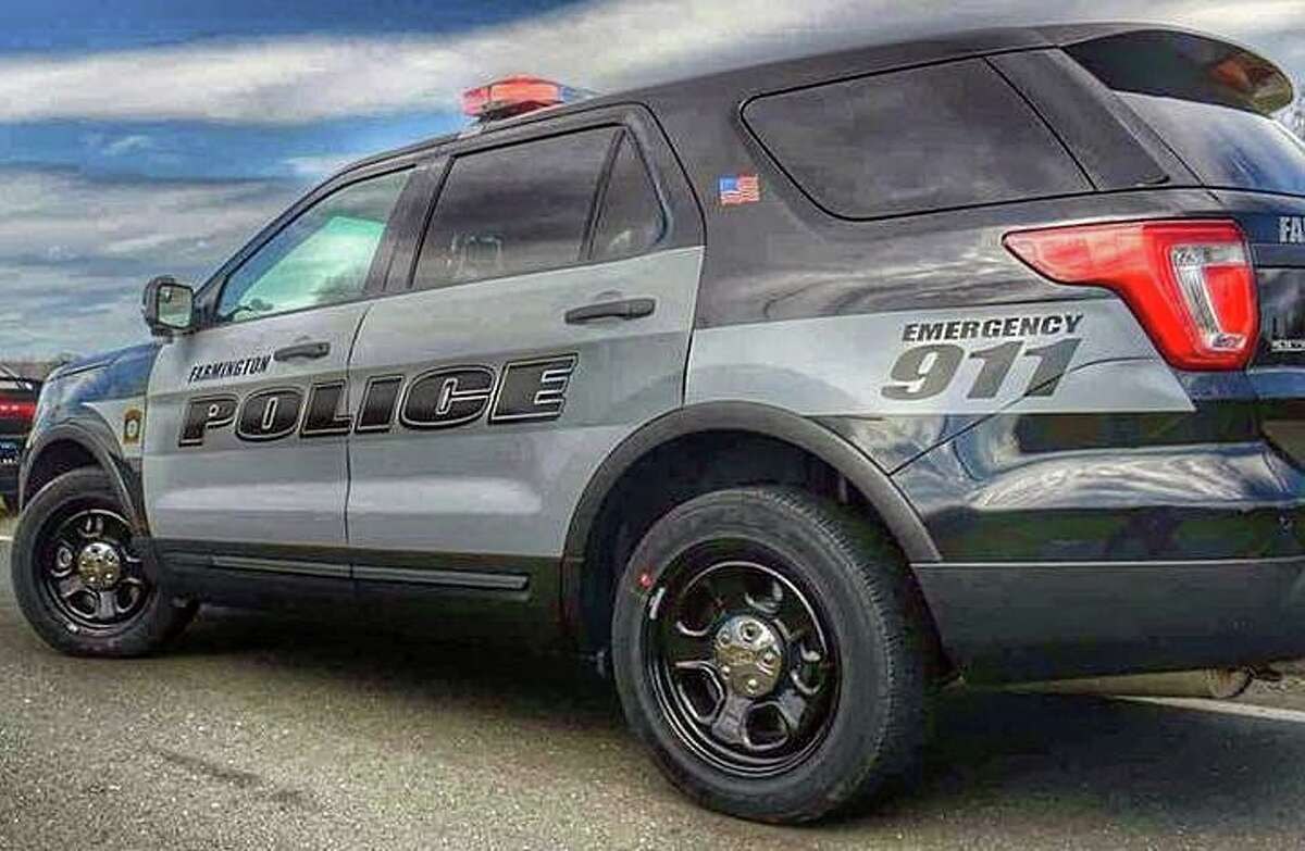 Police in Farmington, Conn., are seeking any information about incident where an officer was hit by the driver of a fleeing stolen vehicle early Monday, Sept. 20, 2021.