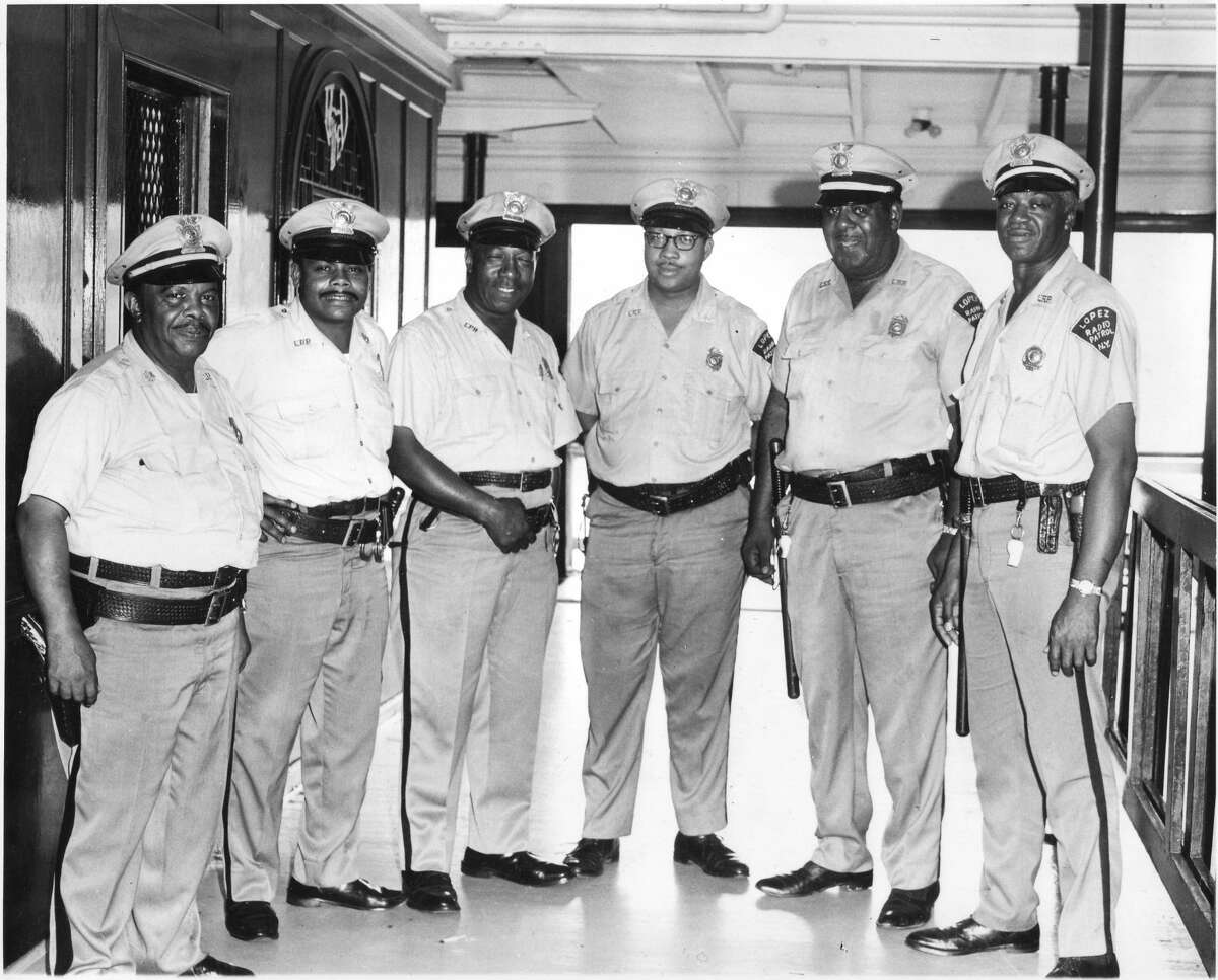 Hudson River Day Line security guards aboard the steamboat Alexander Hamilton, on September 6, 1971, the last year of the boat's Hudson River service. The guards were members of the Lopez Radio Patrol. A conference next month at the Hudson River Maritime Museum will take a broad look at Black history and culture in the Hudson Valley from the 17th century to the 20th century.