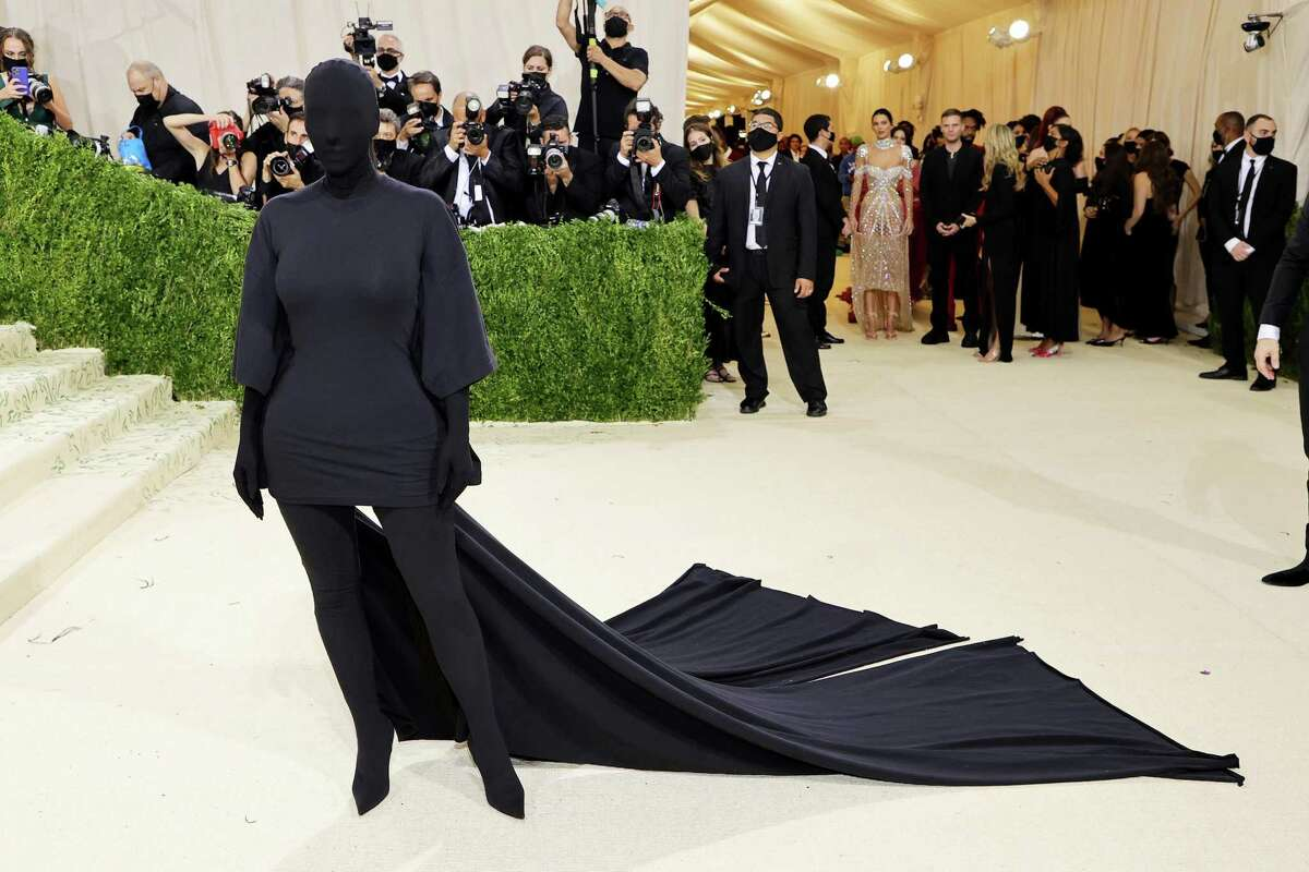 Kim Kardashian attends The 2021 Met Gala Celebrating In America: A Lexicon Of Fashion at Metropolitan Museum of Art on Sept. 13 in New York City.