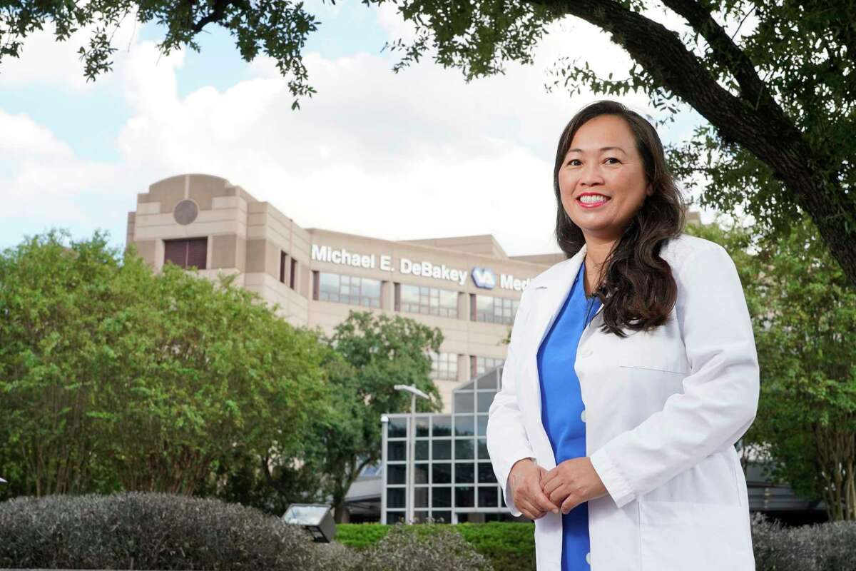Dr. SreyRam Kuy is shown outside the Michael E. DeBakey Veterans Affairs Medical Center, 2002 Holcombe Blvd., Friday, Sept. 17, 2021 in Houston. She is the Deputy Chief Medical Officer for the South-Central VA supporting 1.4 million veterans across eight states.