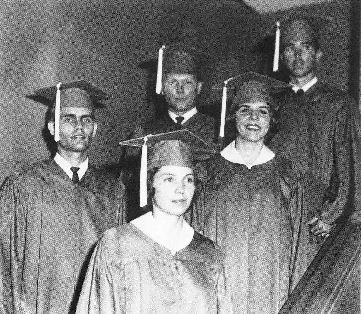 San Jacinto College is marking its 60th anniversary. The first graduating class for the college occurred in May 1962 and featured five students - Allen Lee Gordon, Betty Darby, Perry Orand, Ann Spencer and Garrett Van Trease. All five attended other colleges as freshmen and transferred to San Jacinto College.