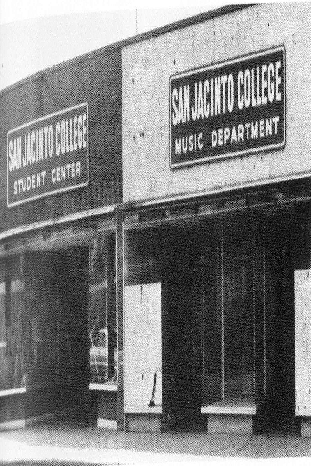 This photo from 1961 shows part of the initial campus for San Jacinto College in Pasadena.