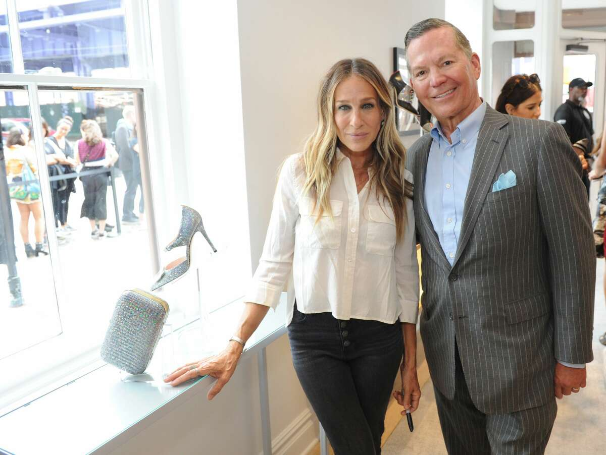 Sarah Jessica Parker and George Malkemus III attend launch of SJP By Sarah Jessica Parker store at the Seaport District NYC on September 13, 2018 in New York City.