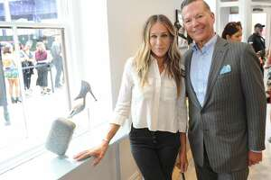 Sarah Jessica Parker and George Malkemus III attend launch of SJP By Sarah Jessica Parker store at the Seaport District NYC on September 13, 2018 in New York City. (