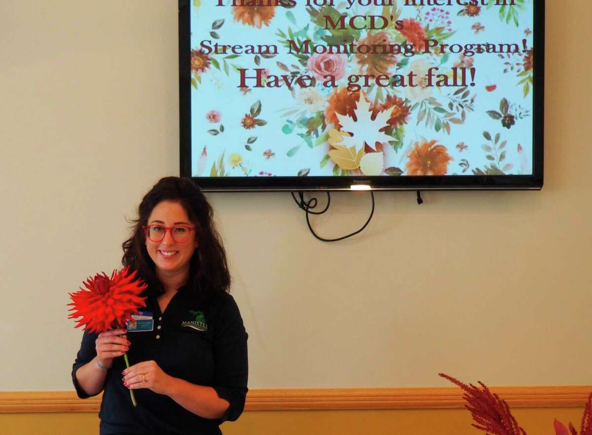 Chelsea Cooper,conservation technician from the Manistee Conservation District, spoke at theSpirit of the Woods Garden Club, Inc. meeting inSeptember. (Courtesy photo)
