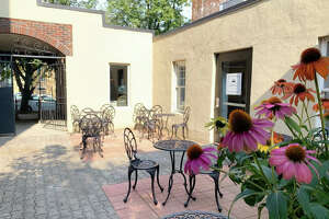 The courtyard at the new Belt Line 3 Italian restaurant in Albany.